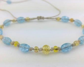 Knotted Hemp Bracelet Handmade, Adjustable Hemp Bracelet, Knotted Bracelet, Boho Bracelet, Friendship Bracelet, Bead Bracelet, Jewelry, Hemp