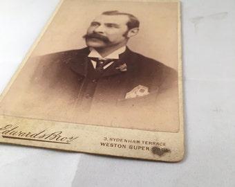 Antique Photo - Stoic Man
