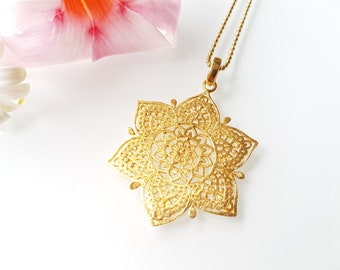 Necklace Mandala Orient 925 Gold plated