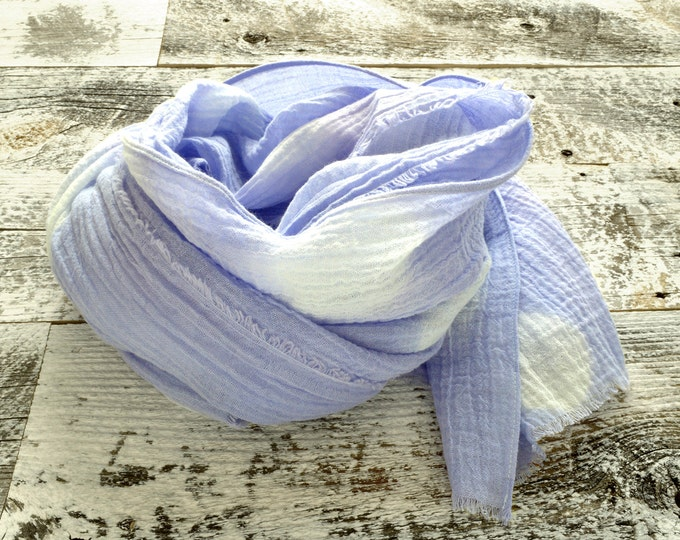 Lavender Shibori Scarf - lightweight cotton scarf