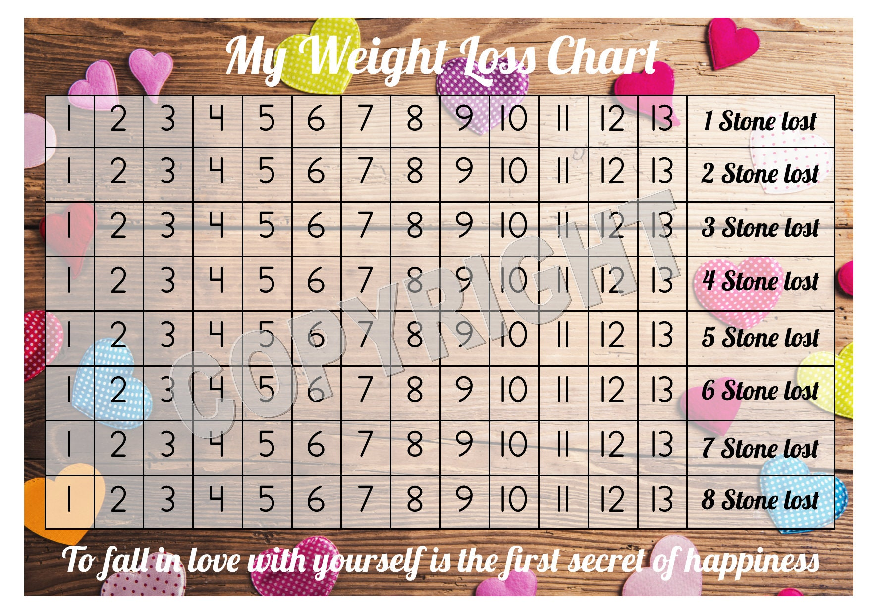 Weight loss chart tracker 8 stone comes with star description weight loss chart tracker nvjuhfo Image collections