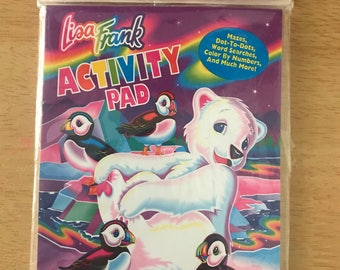 Vintage Lisa Frank 8-Pk Activity Pads Party Favors Unopened