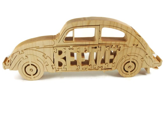 VW Beetle Wood Jigsaw Puzzle Handcrafted From Maple Wood By KevsKrafts