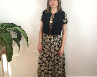 Sweet little black vintage velvet waistcoat
