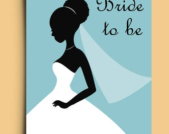 Bride to be - Greetings Card