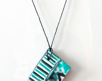 OOAK Topsy Turvy Handmade Polymer Clay Necklace