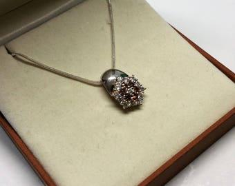925 crystals SK1190 glitter Star Silver Pendant