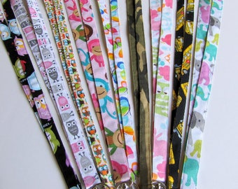 Novelty Fabric Lanyards, 1/2 inch or 3/4 inch with or without Breakaway  option, Safety Lanyard, Elementary Teacher ID Kindergarten Teacher