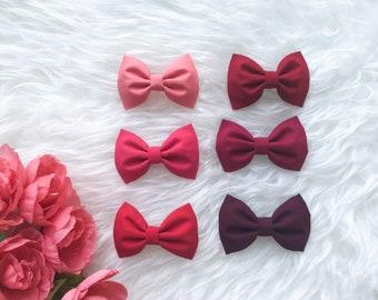 Red tinted earrings