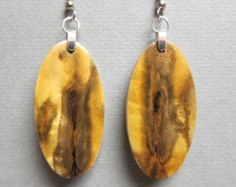 Exotic Wood Earrings, Sumac dangle handcrafted by ExoticwoodJewelryAnd, Hypoallergenic Ear wires