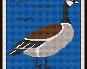 Canadian Goose C2C Graph, Canadian Goose Afghan