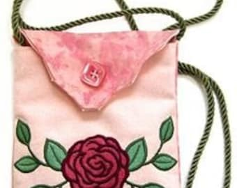 Rose Embroidered Purse