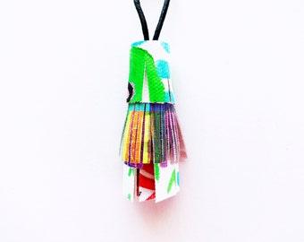 Painted Canvas Tassel Key Chain // Bag Accessories // Purse Charm // Key Ring // Purse Tassel