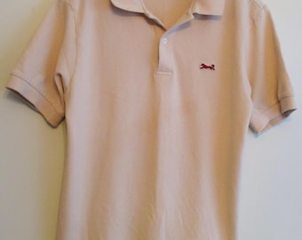 90's Le Tigre Beige w/ Red Tiger Polo