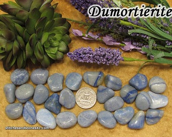 Dumortierite Blue Quartz (medium) tumbled stone for crystal healing