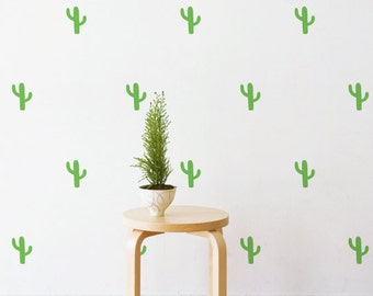 Mini Cactus   Removable Wall Decal & Sticker for Home, Office, Nursery
