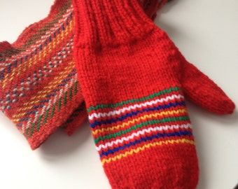 Custom ceinture fléchée inspired mittens - Toddler to adult sizes