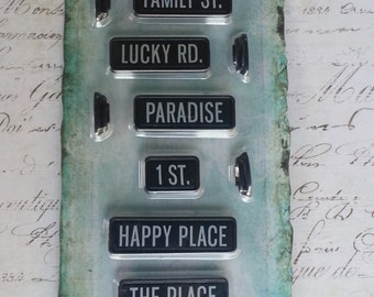 Prima - Junkyard Findings Collection - Ingvild Bolme - Metal Embellishments - Black Street Signs