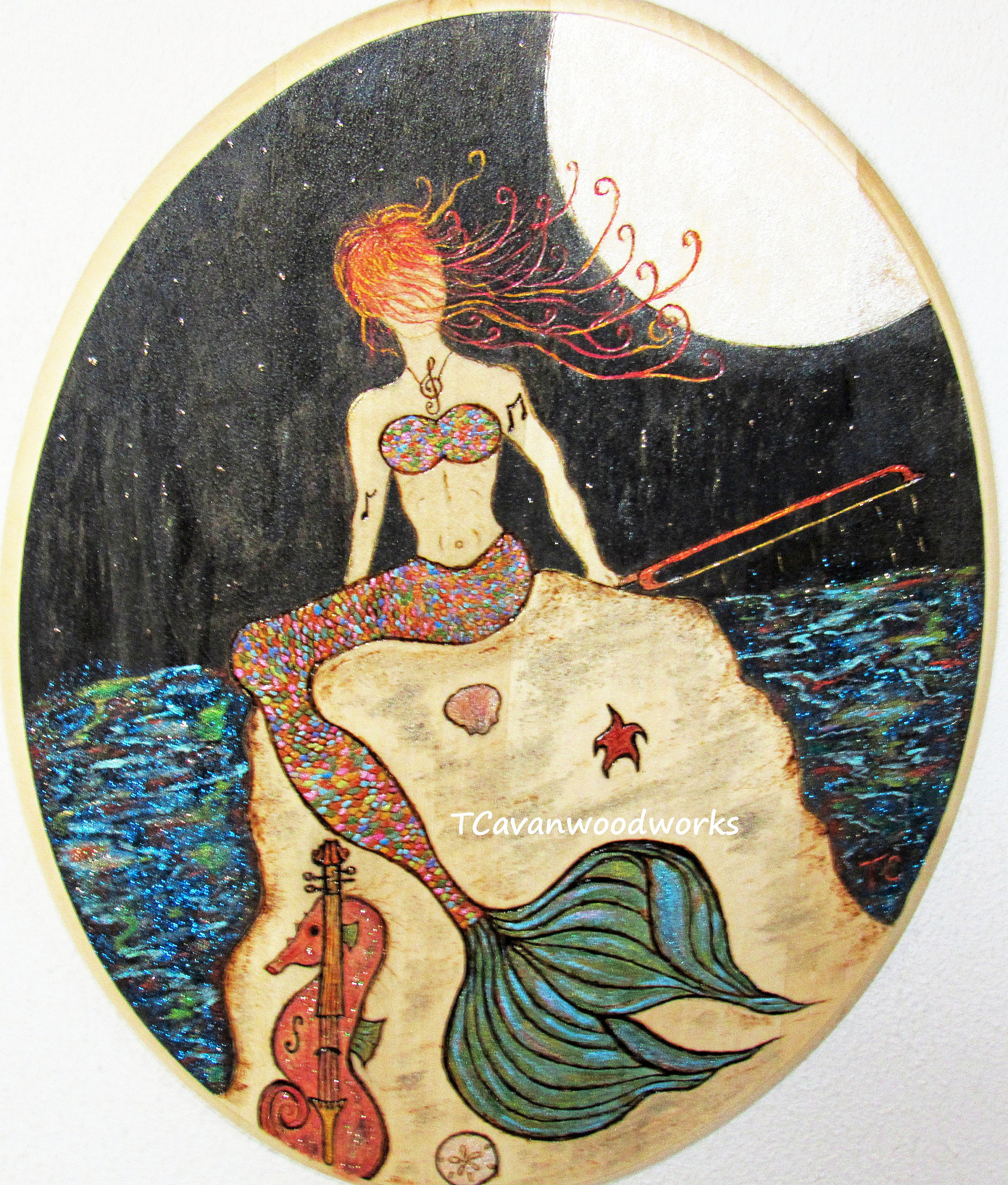 Colorful Mermaid Wall Art Pictures - The Wall Art Decorations ...