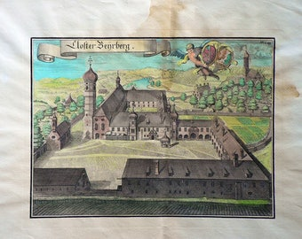 Benrberg/Germany - Cm. 59 x 39 Inches 23,3 x 15,4 - Water-coloured by hand. Since 1930s