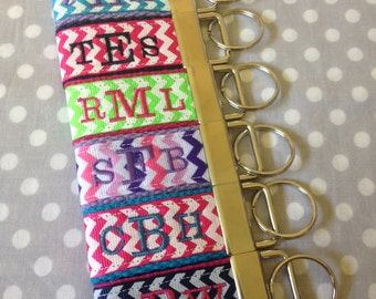 Monogrammed Key Fobs, Personalized Key Fobs, Mini Key Fobs, Key Chains, Zipper Pulls