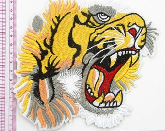 1 pieces Tiger Embroidered Applique ,Tiger Patch ,Tiger Applique for Garment