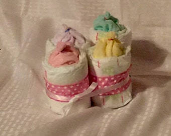 Baby Shower Diaper Baby Botte Centerpieces
