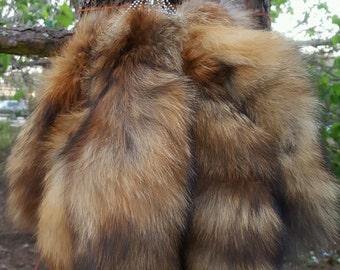 Red Fox Short Tail Keychain