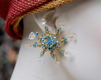 GAVILANE 1980 Blue Crystals Earrings