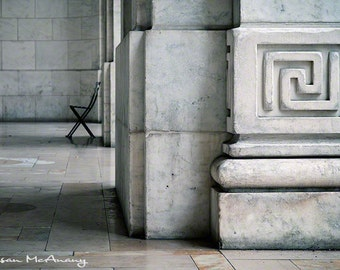 Rest Stop, Architectural Photograph, New York City Building, Urban Photo, Architecture Photography, Building Photograph, Wall Art, Grey
