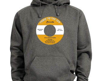 Mens Three To The Sea Records Hoodie S M L XL XXL Surf SUP