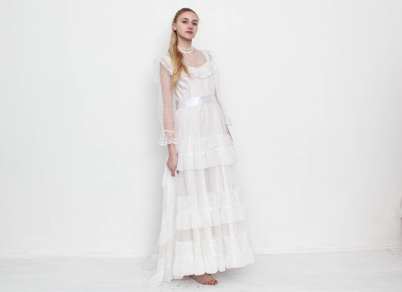 Vintage weiße Hochzeitskleid