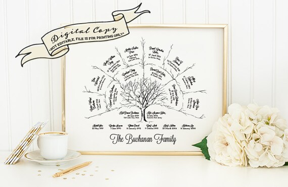 ancestor  u0026 genealogy family tree fan chart 3 generations