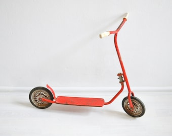 Vintage Scooter, Kickscooter, Vintage Toy, 70er Scooter, 70er Kickscooter, Red Scooter, Vintage Kickscooter