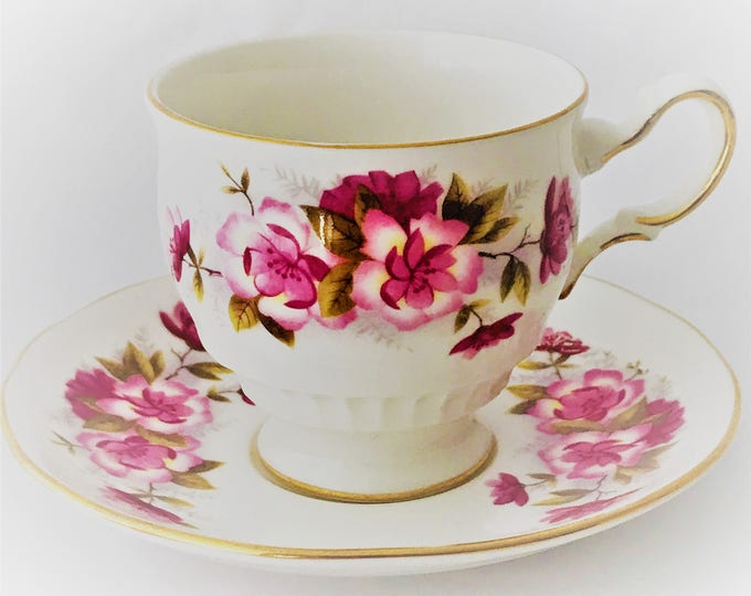Queen Anne-cup and saucer bone china
