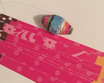 Paper bead strips