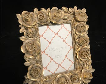 Gold Rose Picture Frame