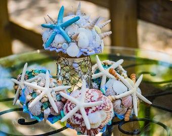 Seashell bridal boquets