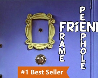 friends tv show frame peephole frame Friends frame series monica's apartment door marco friends best friend gift for women