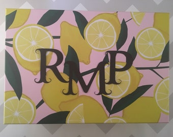 Personalized Storage Box, Lemon
