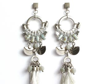 CAJAMARCA silver statement earrings