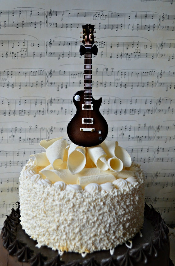 wedding cake topper man with guitar electric guitar wedding birthday grooms cake cake 26352