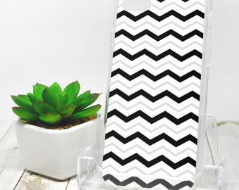Gray Black Chevron iPhone 7 Case - Pattern with Alternating Black White and Gray Zigzags - iPhone 7 Plus Case