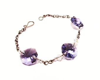 Grade 1 pure titanium bracelet with Swarovski
