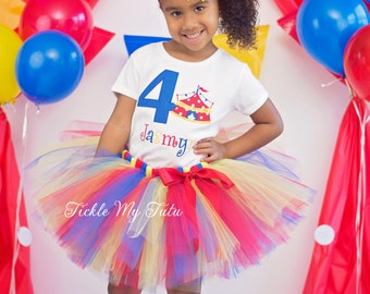 Under the Big Top Circus Tent Carnival Themed Birthday Tutu Outfit-Carnival Themed Birthday Tutu Set-Circus Tutu Set *Bow NOT Included*