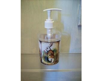 Alice in Wonderland soap dispenser retro vintage Victorian fairy tale bathroom