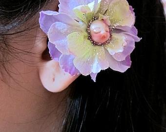Flower Ear Cuff - Fairy Ear Cuff - Purple Ear Cuff - Flower Cuff Earring - Flower Earcuff - Fairy Earcuff - Floral Ear Cuff - Ear Wrap