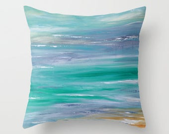 Outdoor Pillow Cover, Turquoise Aqua Blue Pillow Beach Pillows Solid Pillow Patio Cushions Porch Pillow Decorative Throw Pillow, Patio Decor