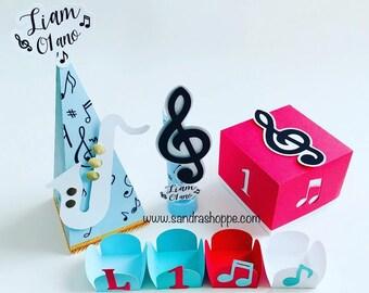 Music favor boxes