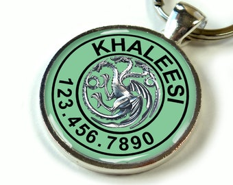 Pet tags Game of thrones targaryen Khaleesi